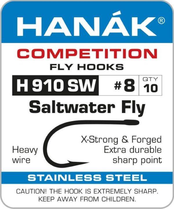 Hanák H910 SW - Barbed Saltwater Fly Hook